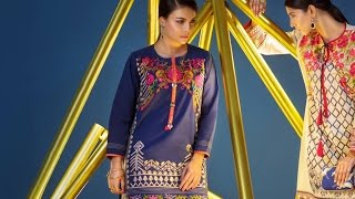 Let the weekend vibes kick in with this fun and vibrant two piece Khaadi Pret suit.