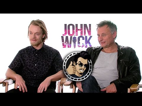 Alfie Allen and Michael Nyqvist Interview -  John Wick (HD) 2014