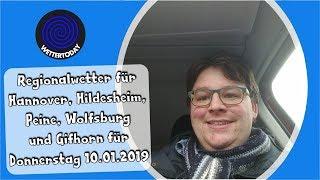 Regionalwetter: Wetterbericht für Donnerstag 10.01.2019