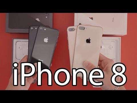Apple iPhone 8 et 8 Plus : Déballage et prise en main (Unboxing)