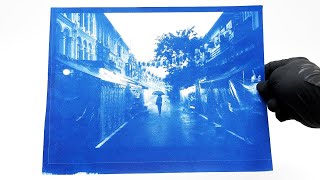 Developing my own photos (using cyanotype)