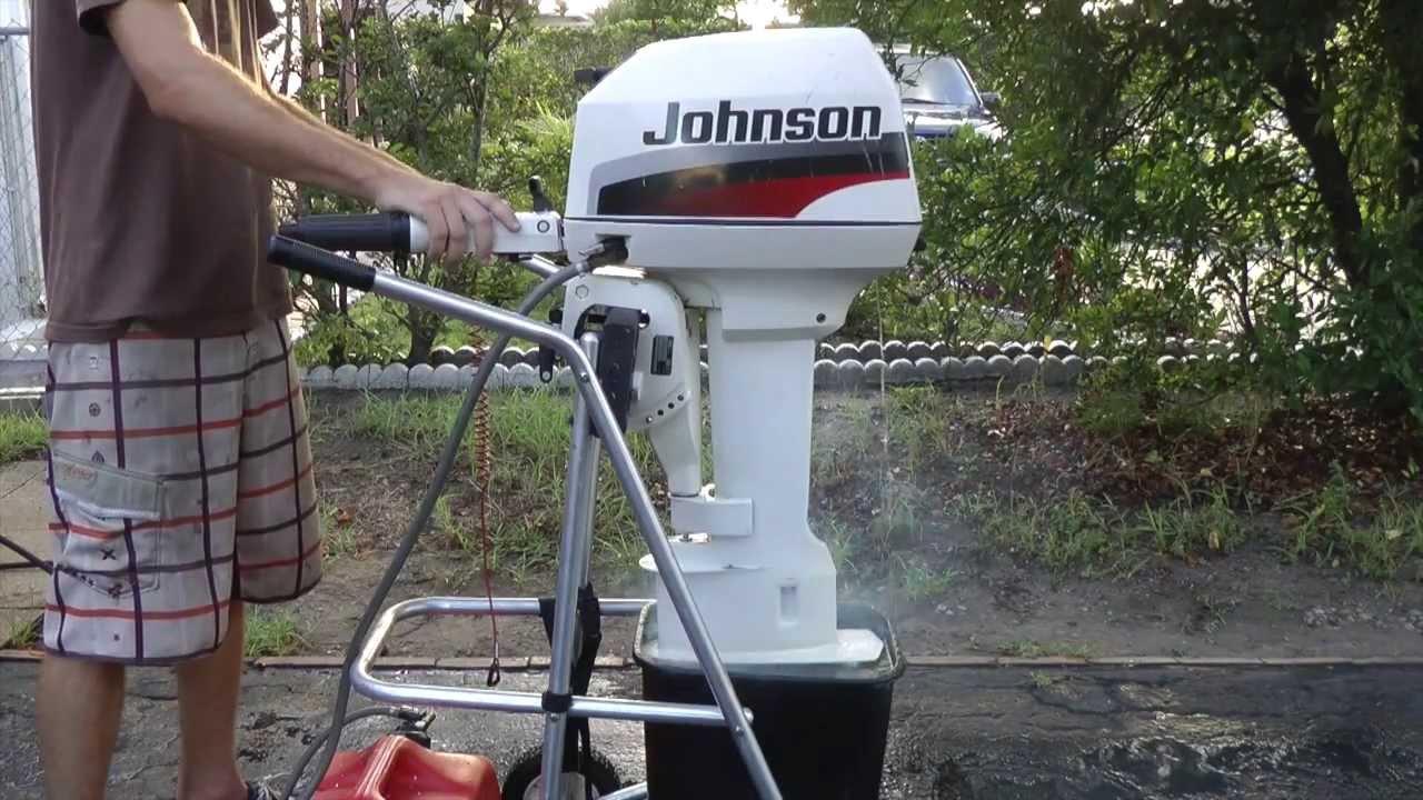 1996 Johnson 6hp Longshaft Tiller Outboard Motor Youtube