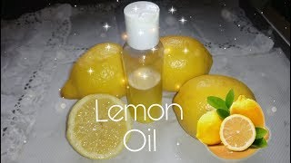 How To Make Lemon Oil For Skin Lightening