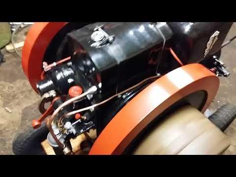 Old diesel engine running