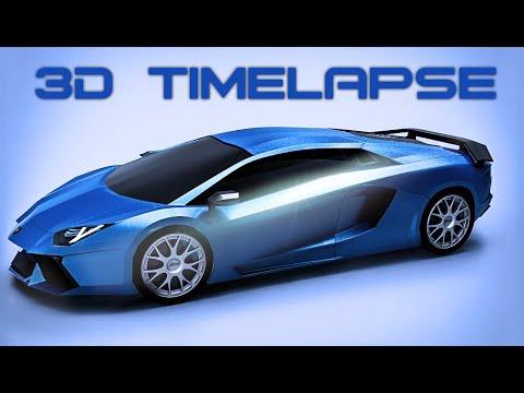 Lamborghini Aventador | Autodesk Maya Modeling | Keyshot Rendering | TimeLapse