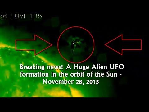 Breaking news! A Huge Alien UFO formation in the orbit of the Sun - November 28, 2015