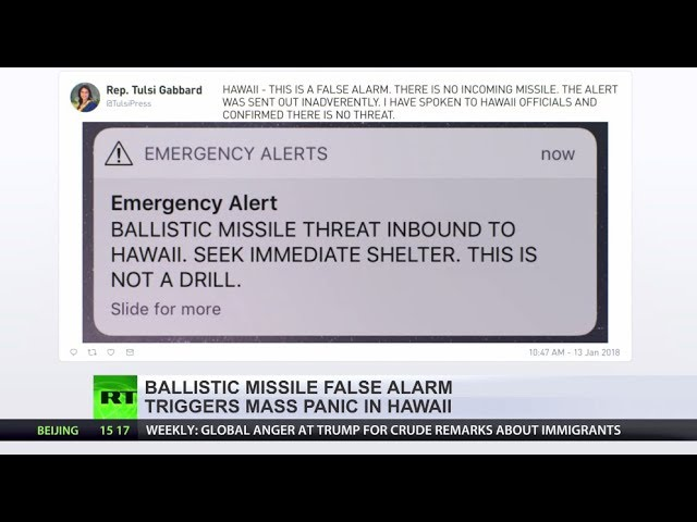'This is not a drill': Hawaii gets ballistic missile alert 'by mistake'