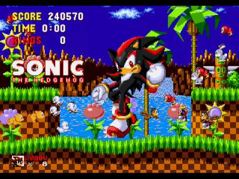 Shadow In Sonic 1 (Sega Genesis Hack) Gameplay Part 7 (Final Zone + Credits)