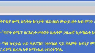 Discussion on current Ethiopia political situation