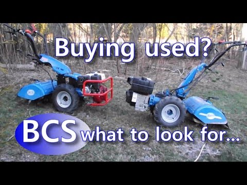 BCS walk behind 2 wheels tractor... buying used? what to look for