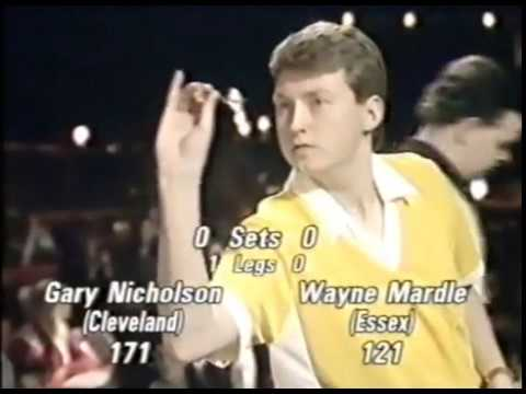 Wayne Mardle vs. Gary Nicholson - Quarter-Final - 1990 BDO British Youth