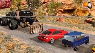 Custom Created Big Foot WILD TRUCK high speed Destruction (Monster Truck) BeamNG Drive #3