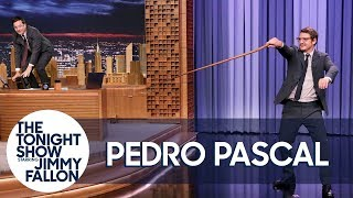 Pedro Pascal Shows Jimmy How to Crack a Whip