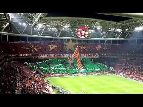 تيفو مذهل لجماهير جالطة سراي التركي في مباراة فنربخشه