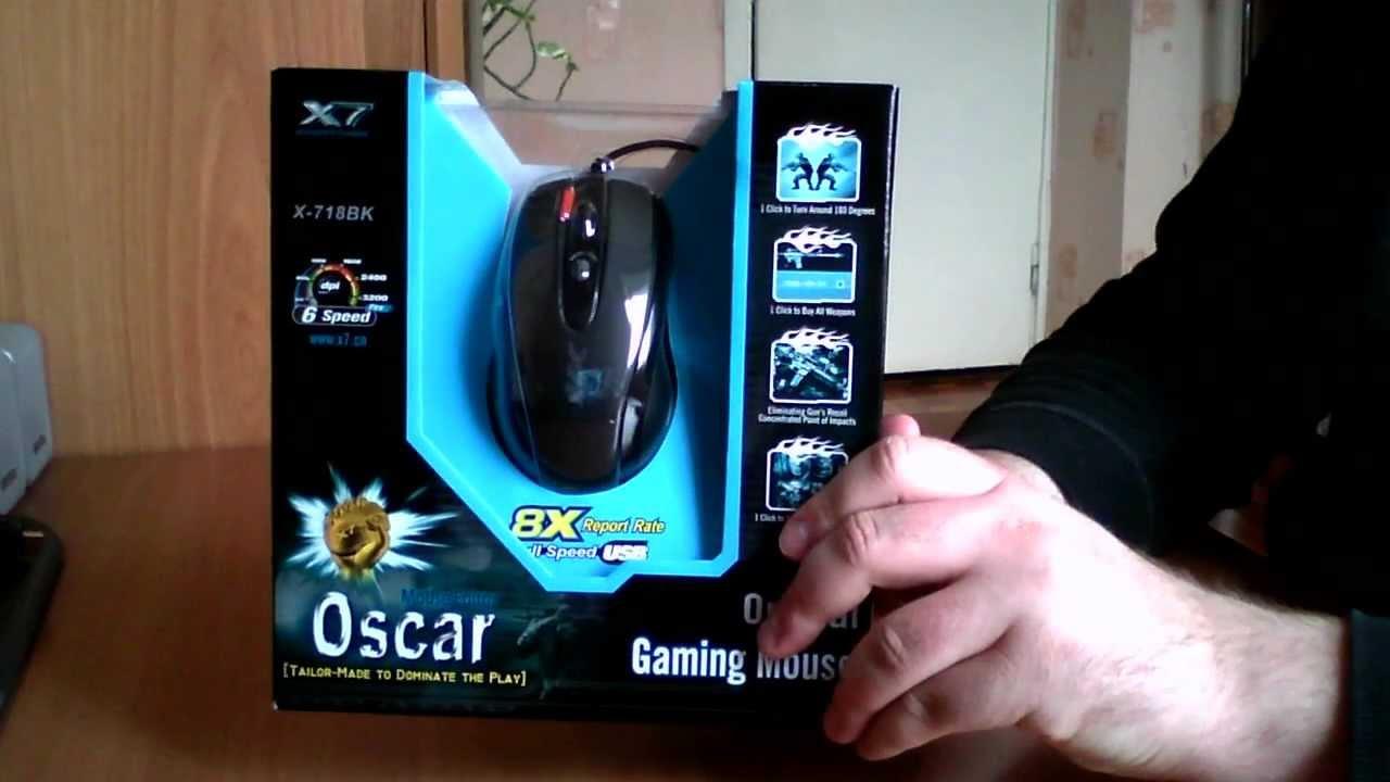 Mysz a4-tech x-705k v-track gaming - 2000 dpi - usb