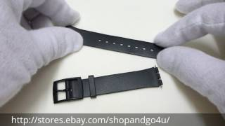 For Swatch Plastic Watch Strap Band Black (L63)