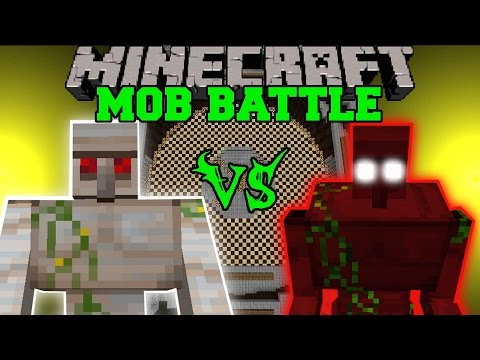MUTANT IRON GOLEM VS DEMON GOLEM - Minecraft Mob Battles - Mods