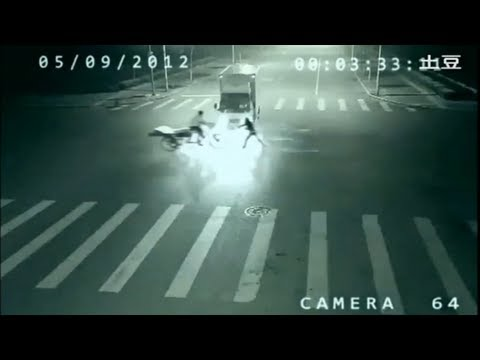 VIDEO: Angel Caught On CCTV Saving A Man From An Accident