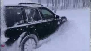 Range Rover and Freelander in the snow
