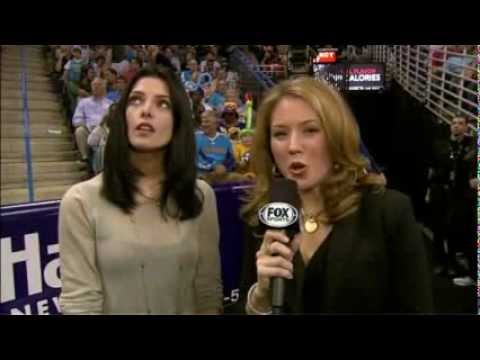 Ashley Greene Interview at Lakers vs Hornets Game in New Orleans (05/12/2012)