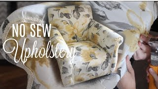HOW TO REUPHOLSTER A CHAIR// NO Sew! // Next Level Lifestyle Series