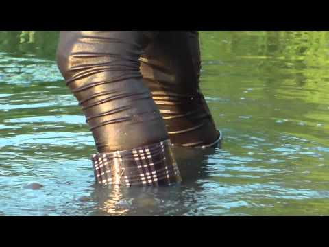 Wellies in a Pond