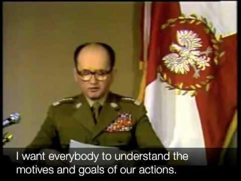 Jaruzelski declares martial law in Poland (English subtitles)