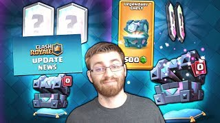 NEW UPDATE RELEASE DATE NEWS! & LEGENDARY KINGS CHEST OPENING! | Clash Royale | LEGENDARY HUNT!