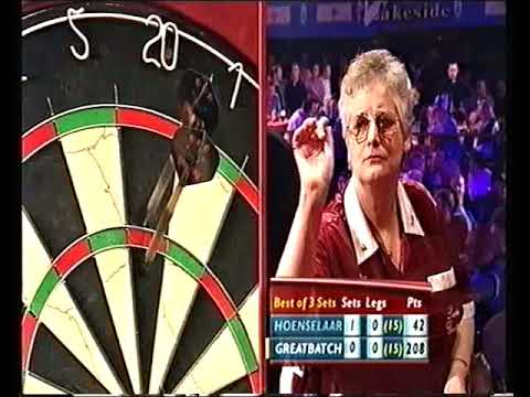 Hoenselaar vs Greatbatch Darts Ladies World Championship 2002 Semi Final