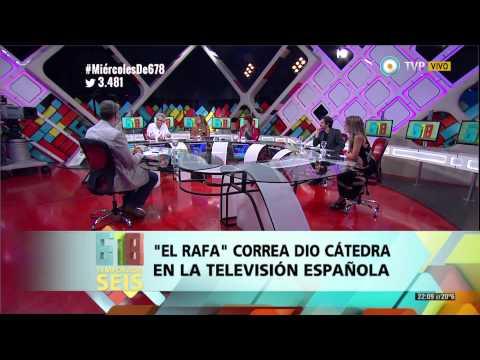 678 - Rafael Correa dio cátedra en la televisión española - 17-12-14 (2 de 4)