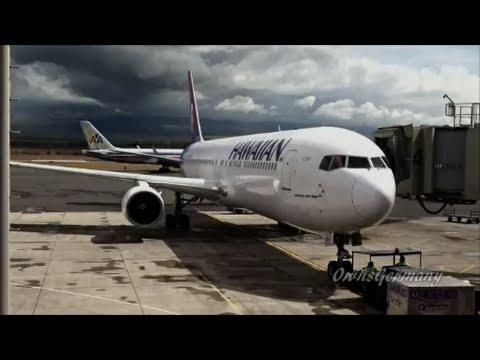 Hawaiian Airlines 767 Pushback at Maui, Hawaii OGG