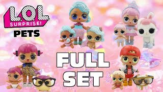 Stop Motion LOL Surprise Pets FULL SET | Complete Family Big Sisters Lil Sisters | #CollectLOL
