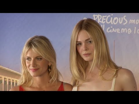 Elle Fanning And Melanie Laurent At Galveston Photocall At The 2018 Deauville Film Festival