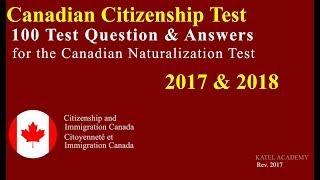 download lagu Canadian Citizenship Naturalization Test 2017, 2018   100 gratis