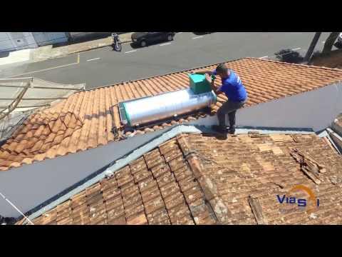 Instalação de Aquecedor Solar - VIASOL Acoplado 300 litros