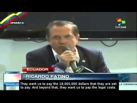 The fight against Texaco-Chevron continues in Ecuador