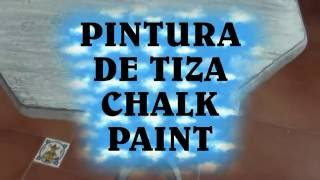 Como Hacer Pintura De Tiza, Chalk Paint Casera - HOW TO MAKE CHALK PAINT