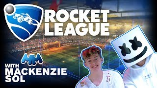 Rocket League Let's Play Challenge Ft. Mackenzie Sol | Gaming with Marshmello