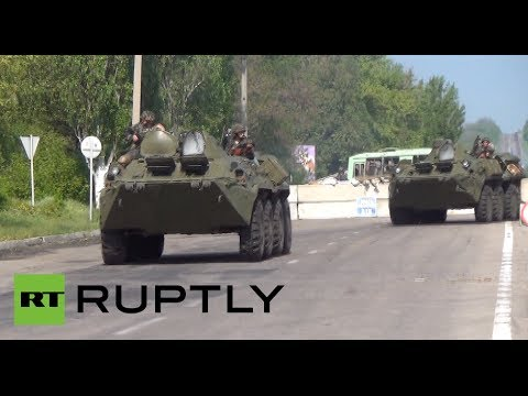 Video: APCs near Slavyansk as Kiev intensifies military op in eastern Ukraine