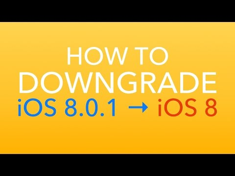 HOW TO: Downgrade to iOS 8 from iOS 8.0.1