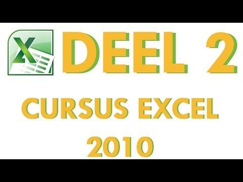 Cursus Excel 2010 Deel 2: Werken met gegevens en tabellen in Excel 2010