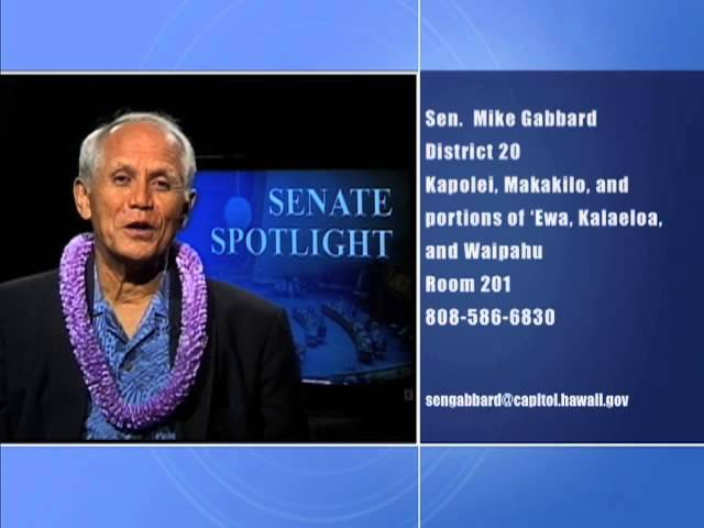 Senate Spotlight: Featuring Senator Mike Gabbard