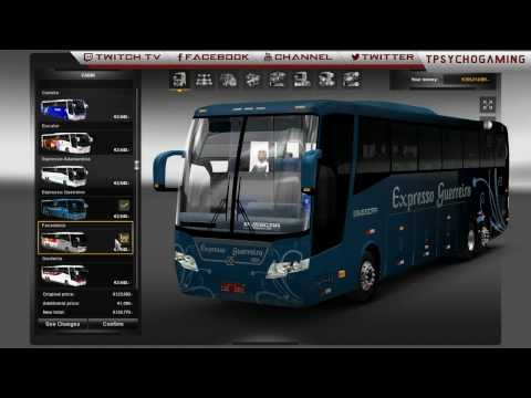 Euro Truck Simulator 2-  1.7 BUS Mod + Link