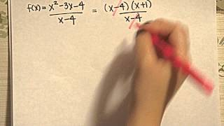 How to determine a removable discontinuity of a rational function