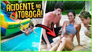 ELA FOI DESCER O TOBOGÃ E SE ACIDENTOU!! [ REZENDE EVIL ]