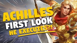 SMITE Achilles Gameplay! A Warrior with an EXECUTE? Achilles Jungle First Look
