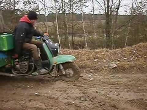 Трактор из мотороллера муравей