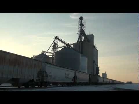 Special request from Union Pacific grain train (w/patched SP) at ethanol plant