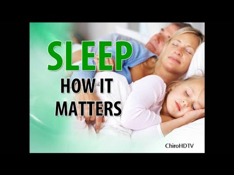 Sleep How It Matters 613 747 0444 Orleans Ontario Chiropractor