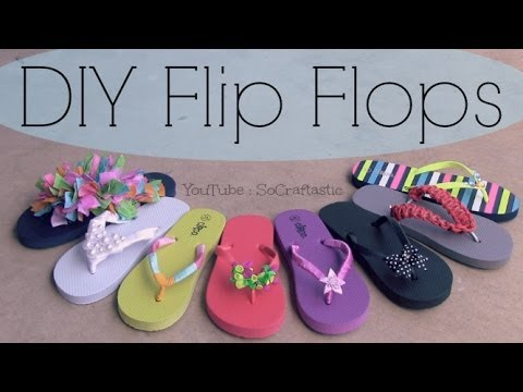 How To Decorate Sandals for Summer | SoCraftastic